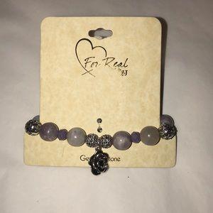 Purple genuine stone bracelet